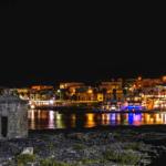 la costa ionica del Salento di notte